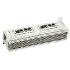 Prewired Modular Jack Block, T568B, (6) 8-Wire