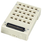 Mini Category 3 Patch Panel, (25) RJ-11 2-Wire Ports, (1) Telco 50 Male