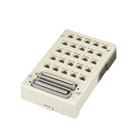 Mini Category 3 Patch Panel, (25) RJ-11 2-Wire Ports, In/Out, (2) Telco 50, ([1] Male/[1] Female)