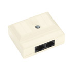 CAT5 Surface-Mount Block - T568B, 2 Jacks