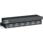 Rackmount ServSwitch CAT5 KVM Extender Hub, 6-Port Dual-Access with Bidirectional Serial and Stereo Audio