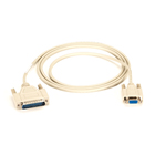 Standard AT Modem Cable, DB9 Female/DB25 Male, 9-Conductor, 28 AWG,  6-ft. (1.8-m)