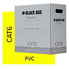 Black Box Connect CAT6 250 MHz Solid Bulk Cable - UTP, PVC, Yellow, 1000 ft.