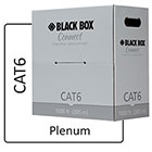 Black Box Connect CAT6 250 MHz Solid Bulk Cable - UTP, Plenum, White, 1000 ft.