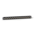 CAT6A Shielded Feed-Through Patch Panel, 24-Port, 1U