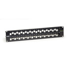 GigaTrue CAT6A Staggered Blank Patch Panel, 48-Port, 2U