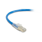 TAA GigaTrue 3 CAT6A 650-MHz Patch Cable (F/UTP), Slimline, Lockable, Blue, 10-ft. (3.0-m)
