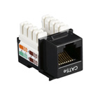 Black Box Connect CAT5e RJ-45 Keystone Jack - Unshielded, Black, 5-Pack