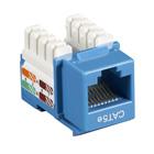 Black Box Connect CAT5e RJ-45 Keystone Jack - Unshielded, Blue, 25-Pack