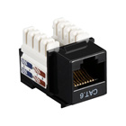 Black Box Connect CAT6 RJ-45 Keystone Jack - Unshielded, Black, 10-Pack