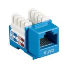 Black Box Connect CAT6 RJ-45 Keystone Jack - Unshielded, Blue, 10-Pack