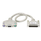 ServSwitch to Keyboard/Monitor/Mouse Cable (User Cables) with Audio, PS, PS/2 Standard, 1-ft. (0.3-m)
