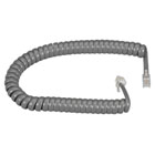 RJ-22 Modular Coiled Handset Cord - Dark Gray, 12-ft. (3.6-m)
