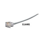 RJ-11 Flat-Satin Telephone Cable, 4-Wire, Crossed-Pinning, Custom Lengths
