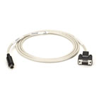 ImageWriter Cable, IBM AT to ImageWriter or LaserWriter, 8-Pin Mini DIN Male/DB9 Female, 6-ft. (1.8-m)