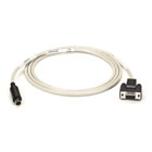 ImageWriter Cable, IBM AT to ImageWriter or LaserWriter, 8-Pin Mini DIN Male/DB9 Female, 10-ft. (3.0-m)