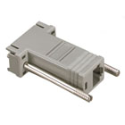 DB9 Colored Modular Adapter (Unassembled), Female to RJ-45, 10-Wire, Gray