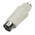 Mini DIN Adapter, 6-Pin Mini DIN Female to 5-Pin DIN Male