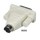 PC Video Adapters, 6-Pin Mini DIN Male to DB9 Male