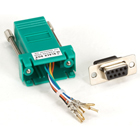 DB9 Colored Modular Adapter (Unassembled), Female to RJ-45, 8-Wire, Green