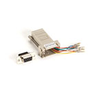 DB9 Colored Modular Adapter (Unassembled), Female to RJ-45, 8-Wire, Gray