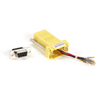 DB9 Colored Modular Adapter (Unassembled), Female to RJ-45, 8-Wire, Yellow