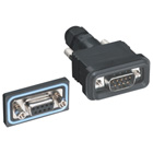 Water-Resistant D-Sub Panel-Mount Connector, DB9 Male