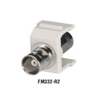 GigaStation BNC Snap Fittings, (F/F), Telco Ivory