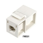 GigaStation MT-RJ Flush Adapter (Female/Female) Snap Fitting, Office White