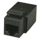 Unshielded CAT5e Modular Feed-Thru Coupler, Black