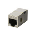 CAT6 Straight-Through Coupler, Shielded, Metal, Single-Pack
