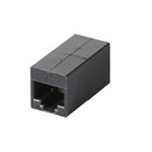 CAT6 Straight-Through Coupler, Unshielded, Black