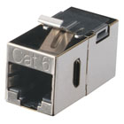 CAT6 Keystone Feed-Through Straight-Pinned Coupler, Metal