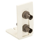 Advanced Multimedia Outlet Bracket, with 2 ST Adapters (Mounted)