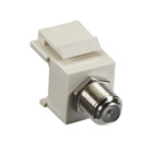 GigaStation2 Snap Fitting, F-Connector, Female/Female, Office White