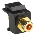RCA Connector, Passthrough, Female/Female, Red