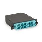 OM3 50-Micron Multimode Fiber Optic Cassette (LGX) - Type A, 24-Strand MTP to (12) LC Duplex Pairs