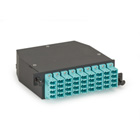 OM3 High-Density Fiber Optic Cassette, 3 x 12 Strand, MTP MPO-Style to (36) LC