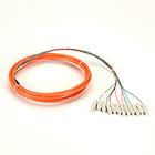 OM1 62.5-Micron Multimode Fiber Optic Pigtail, 12-Strand, SC, Orange, 3-m (9.8-ft.)