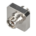 Fiber Optic Coupling, FC–FC, Square Mounting, Single-Mode, Simplex, Ceramic Sleeve, Metal Flange