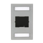 Plastic Coupler Faceplate, Single-Gang, 1-Slot, Gray