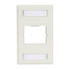Plastic Coupler Faceplate, Single-Gang, 1-Slot, White