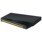 Rackmount Fiber Panel, 1U, Loaded with (24) Single-Mode/Multimode Connectors, ST, 24 Simplex
