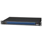 Rackmount Fiber Panel, 1U, Loaded with (24) Single-Mode/Multimode Connectors, LC, 24 Duplex