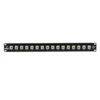 Black Box Connect Fiber Patch Panel Kit – (16) Simplex ST Adapters