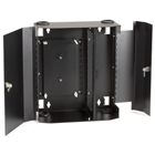 Fiber Wall Cabinet, Lock-Style, 12-Adapter Panel