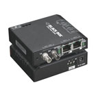 Hardened Media Converter Switch, 10-/100-Mbps Copper to 100-Mbps Fiber, Multimode, 24-VDC, ST