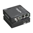 Hardened Media Converter Switch, 10-/100-Mbps Copper to 100-Mbps Fiber, Multimode, 48-VDC, ST