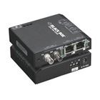 Hardened Media Converter Switch, 10-/100-Mbps Copper to 10-Mbps Fiber, Single-Mode, 100–240-VAC, ST