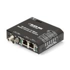 Hardened Media Converter Switch, 10-/100-Mbps Copper to 10-Mbps Fiber, Multimode, 24-VDC, ST
